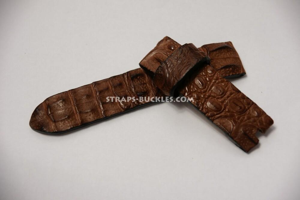 Часовой ремешок из кожи горбатого крокодила