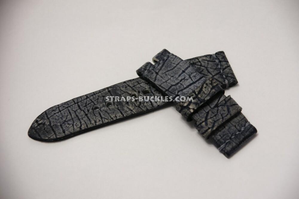 Часовой ремешок из кожи гиппопотама
