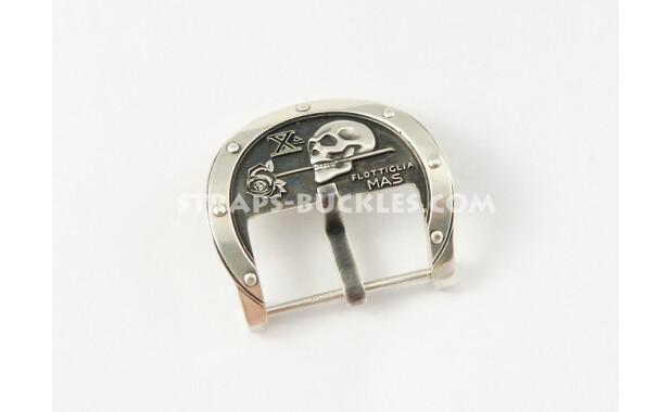 Пряжка с эмблемой Х Флотилии МАС, skull silver 24 mm