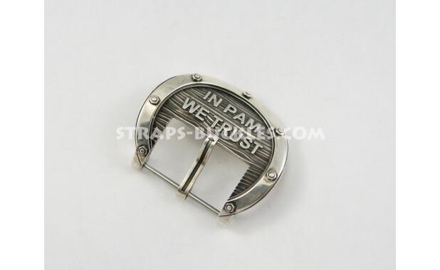 """Пряжка """"взгляд моряка-подводника через иллюминатор на морские глубины"""", In PAM silver small 24 mm"""