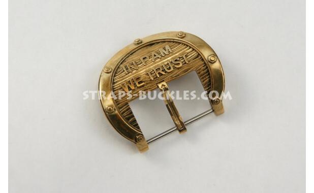 """Пряжка из латуни"""" взгляд моряка-подводника сквозь иллюминатор на морские глубины"""", In PAM brass small 24 mm"""