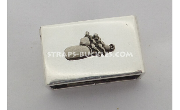 Silver keeper polished 24 mm with silver insert