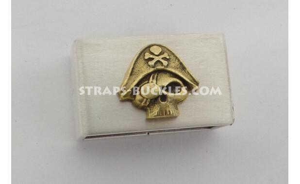 Silver keeper matt 24 mm with bronze/brass insert