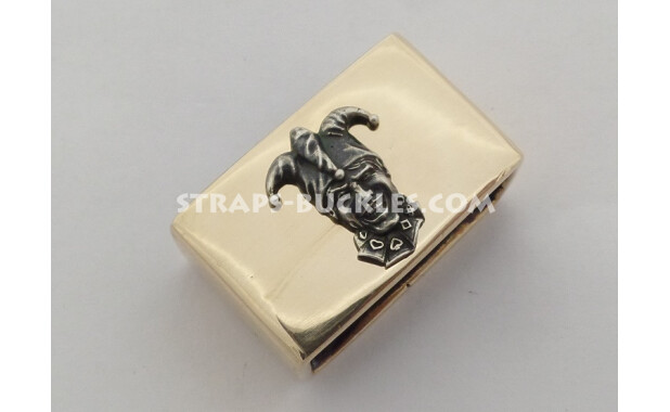 Bronze keeper polished 24 mm with silver insert