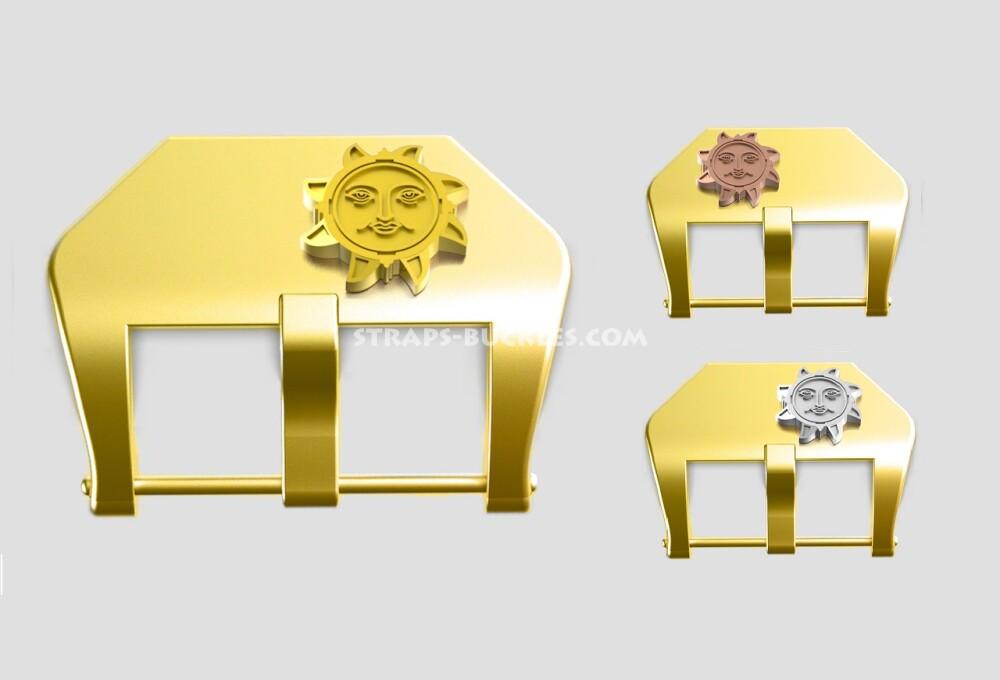"Brass buckle ""Sun"" 20, 22, 24 mm"
