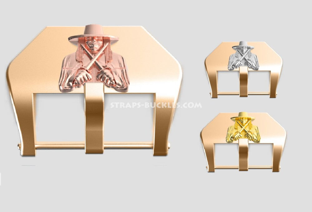 "Bronze buckle ""Anonymous"" 22, 24 mm"