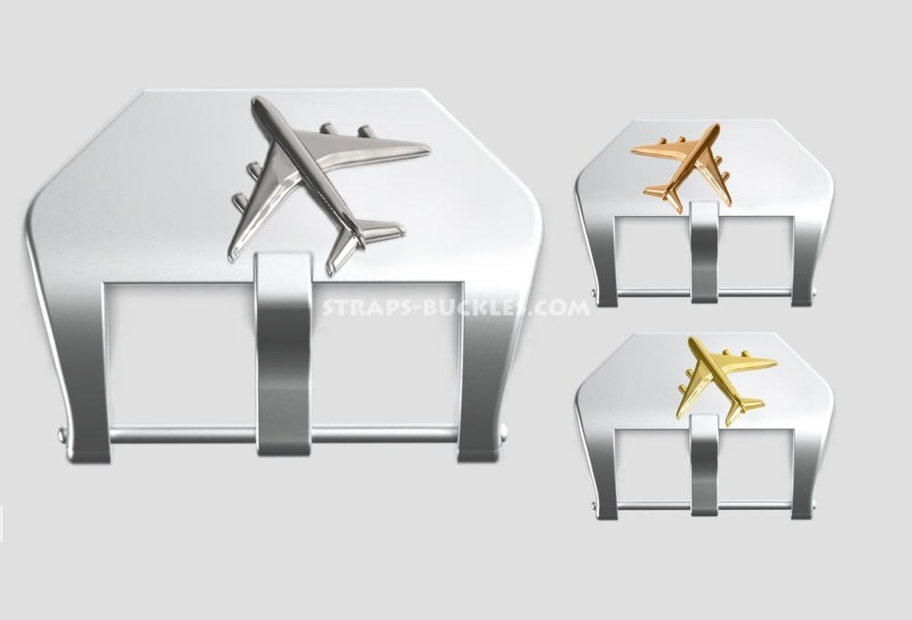 """Sterling silver buckle """"Airplane"""" 22, 24 mm"""