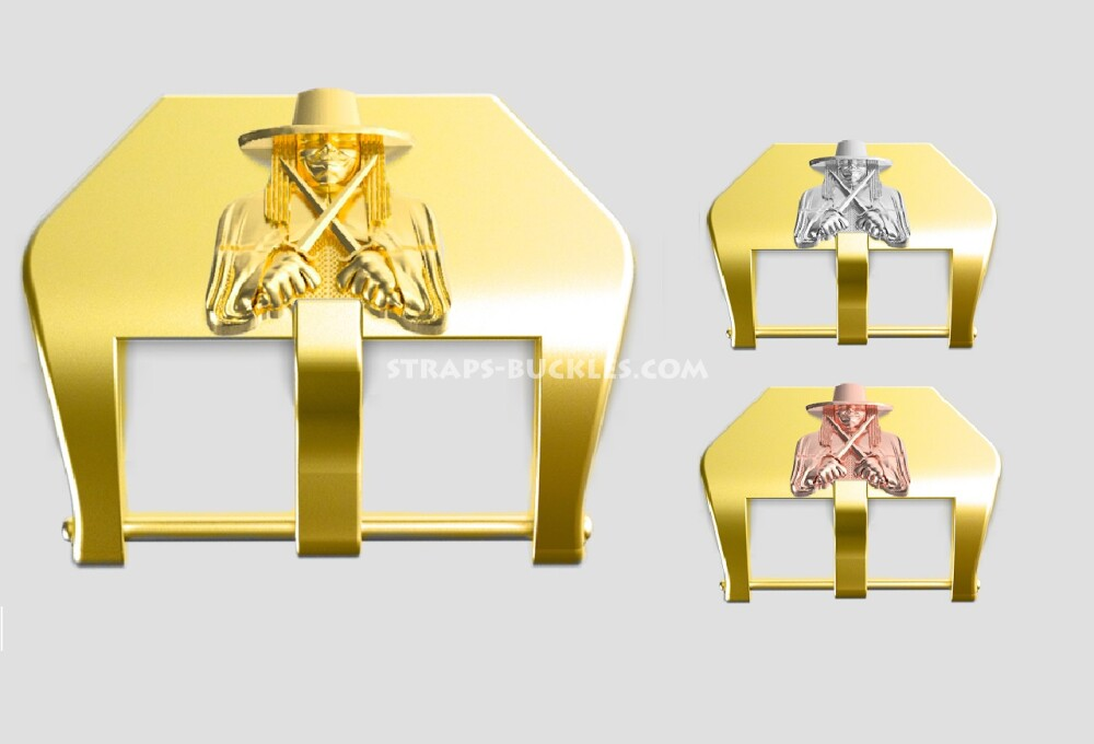 """Brass buckle """"Anonymous"""" 22, 24 mm"""