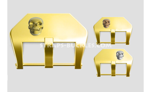 "Brass buckle ""Skull"" 20, 22, 24 mm"