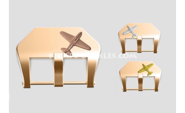"""Bronze buckle """"Fighter"""" 22, 24 mm"""