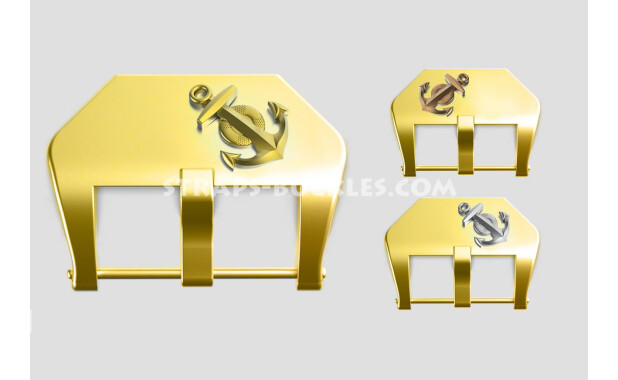 "Brass buckle ""Anchor"" 20, 22, 24 mm"