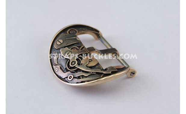 Бронзовая пряжка в виде механизма часов, MECHANISM bronze 24 MM