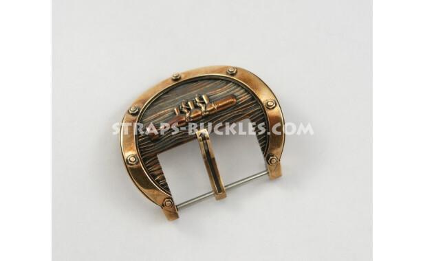 """Пряжка из бронзы """"Боевые пловцы, преодолевающие напор морских волн"""" Saboteurs bronze 24 mm"""