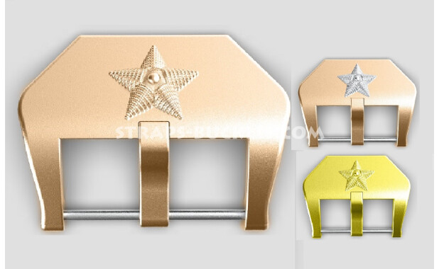 "Bronze / brass buckle ""Star"" 20, 22, 24 mm"