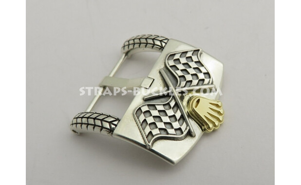 Rally sterling silver with gold crown 16, 20 mm