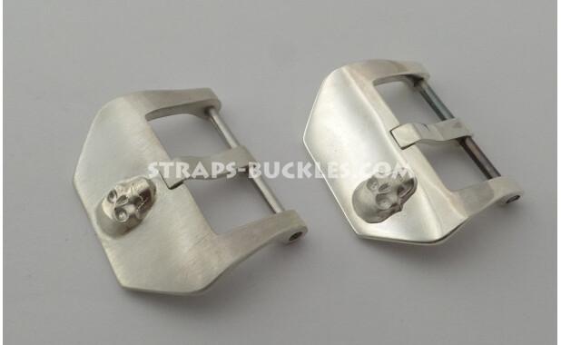 "Sterling silver buckle ""Skull"" 22, 24 mm"