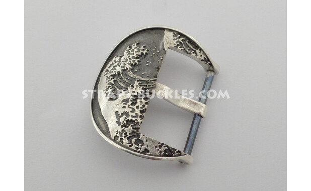 Wave silver 22 mm.