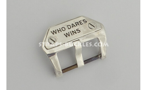 Sterling silver buckle WHO DARES WINS 20,22,24 мм