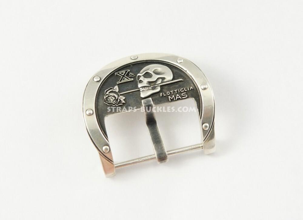 skull silver 24 mm