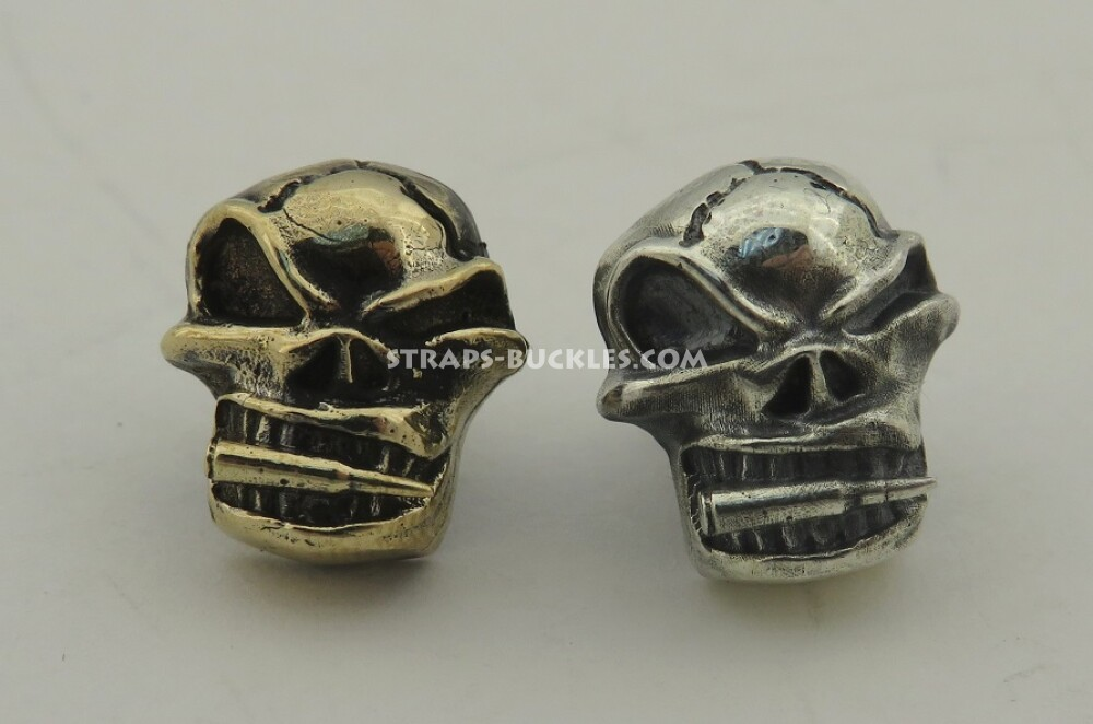 Skull with a bullet