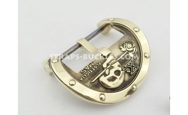 skull brass HQ 24 mm