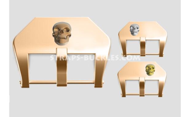 """Bronze buckle """"Skull"""" 20, 22, 24 mm"""