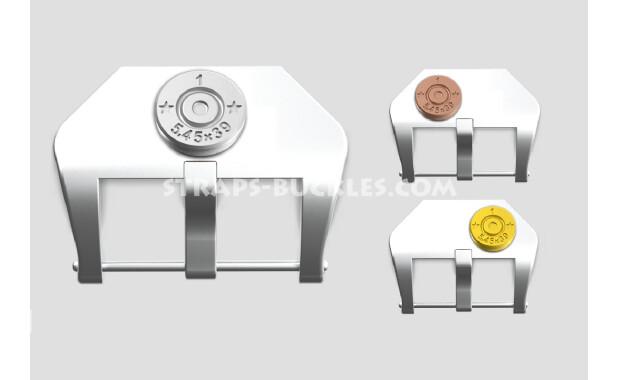 """Sterling silver buckle """"Capsule"""" 20, 22, 24 mm"""
