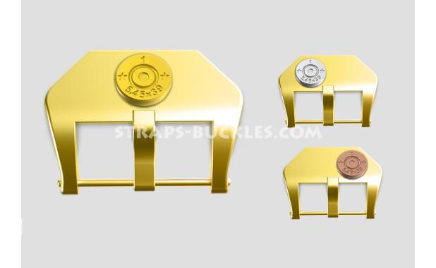"Brass buckle ""Capsule"" 20, 22, 24 mm"