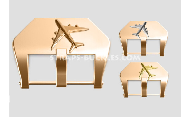 "Bronze buckle ""Airplane"" 22, 24 mm"