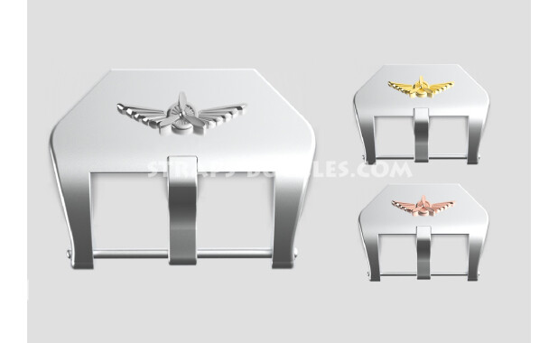 "Sterling silver buckle ""Wings"" 20, 22, 24 mm"