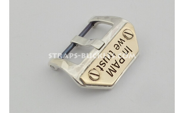 Sterling silver buckle In PAM we trust 20,22,24 мм