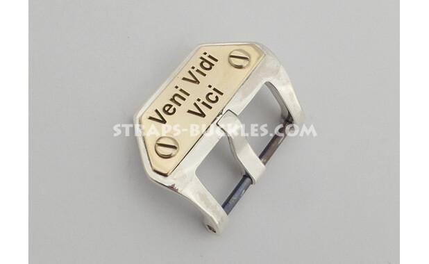 Sterling silver buckle Veni Vidi Vici 20,22,24 мм