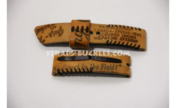Часовой ремешок из бейсбольной перчатки